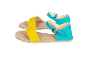 Blue-and-Yellow-sandals